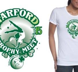 2015 Harford Trophy Meet gymnastics tshirt design