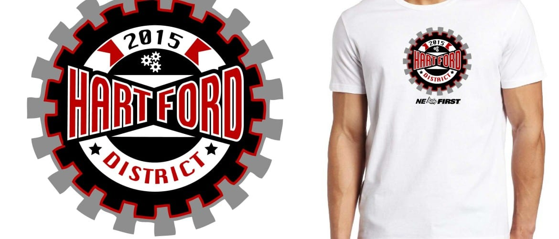 2015 Hartford District color separated vector logo design for t shirt