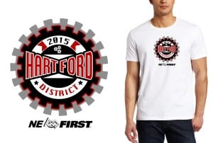 2015 Hartford District color separated vector logo design for t shirt