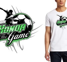2015 Honor The Game Soccer T-Shirt Logo Design
