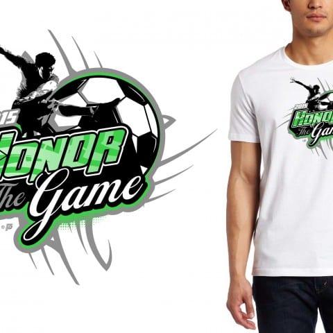 Soccer T-Shirt Logo Design 2015 Honor The Game