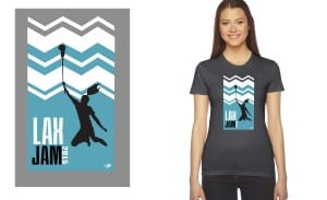 2015 LAX JAM tshirt design for lacrosse event