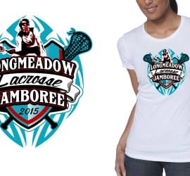 2015 Longmeadow Lacrosse Jamboree best t-shirt logo design