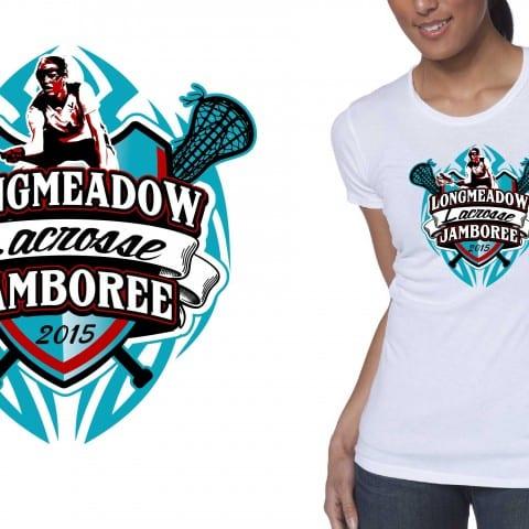 Best t-shirt logo design 2015 Longmeadow Lacrosse Jamboree