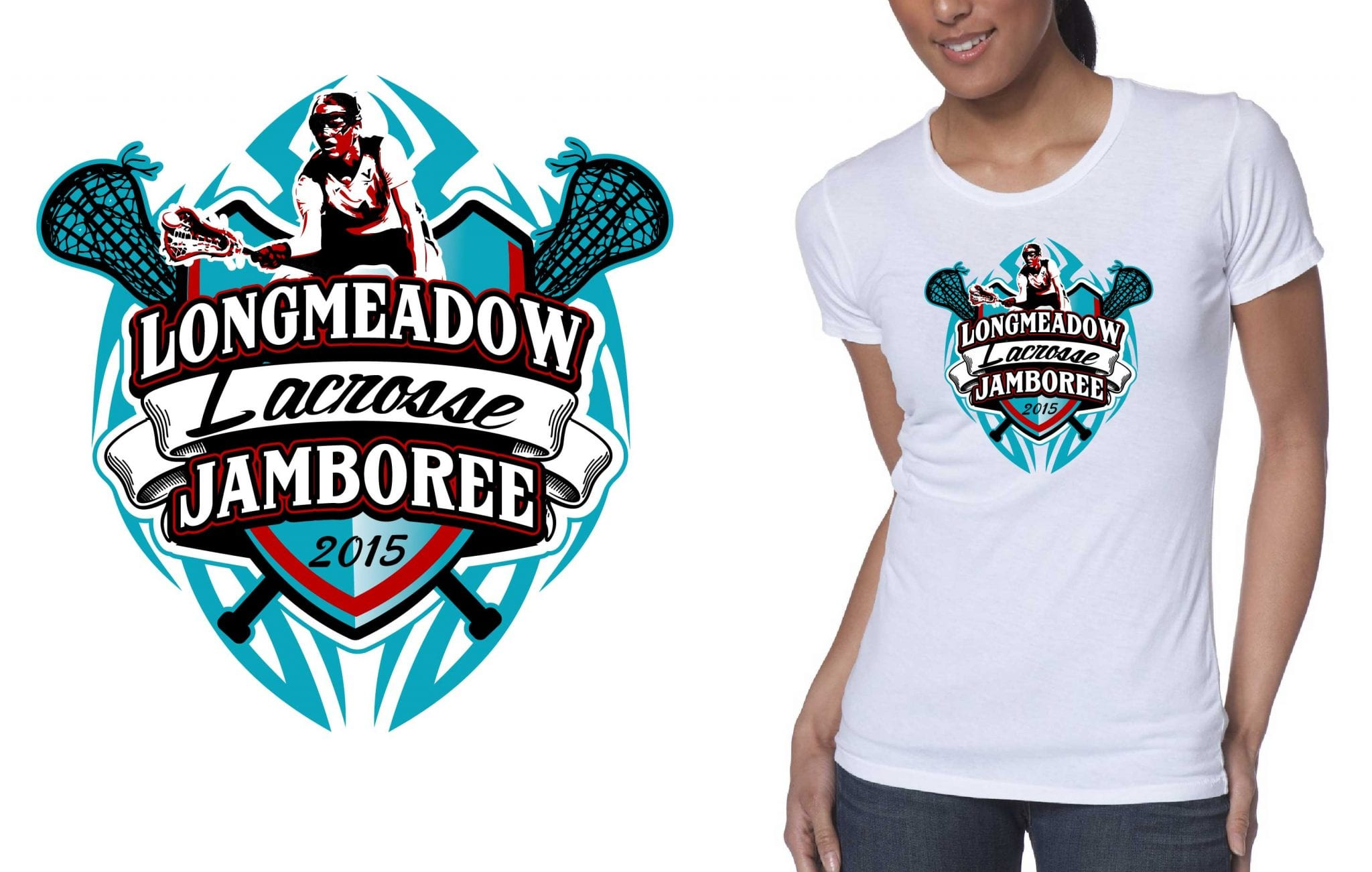2015 longmeadow lacrosse jamboree best t shirt logo design