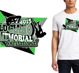 2015 Luciano Memorial Invitational awesome track and field logo designs for tshirt