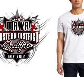 2015 MAWA Eastern District Qualifier cool wrestling tshirt design