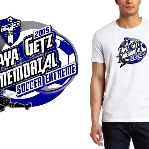 2015 Maya Getz Memorial Soccer Extreme  best soccer logo for t shirt by urartstudio graphic design studio located in Cleveland Ohio USA
