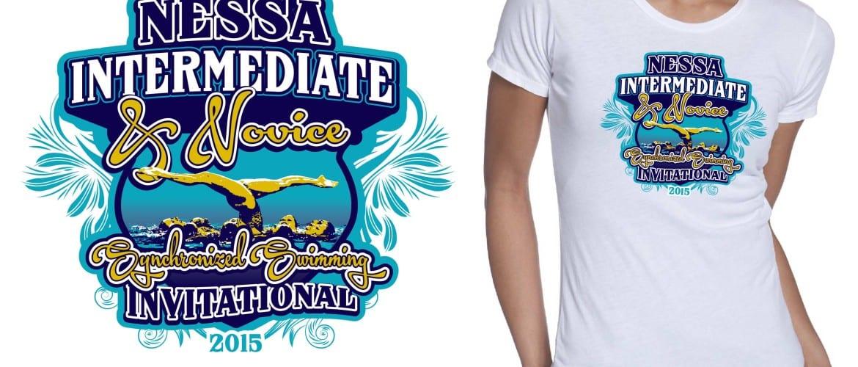 2015 NESSA Intermediate Championships and Novice Invitational cool synchronized swimming tshirt design