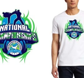 2015 National Championships martial arts tshirt design