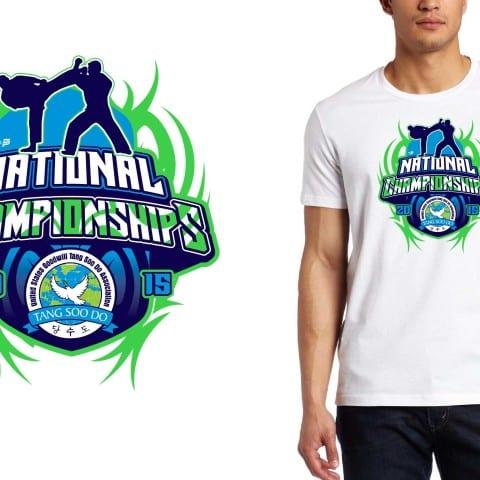 2015 National Championships martial arts tshirt design