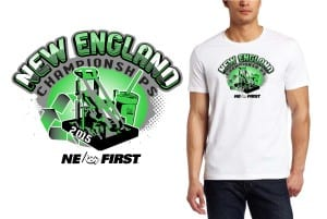 New robotics tshirt vector logo design 2015 New England Championships