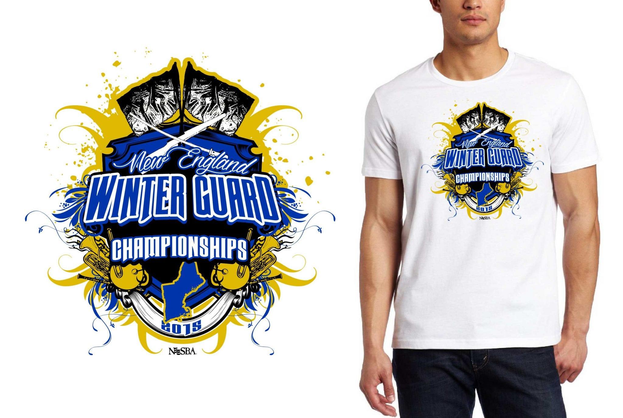 2015 New England Winter Guard Championships tshirt design
