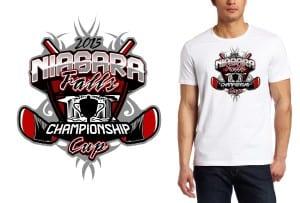 2015 Niagara Falls Championship Cup cool hockey tshirt logo design