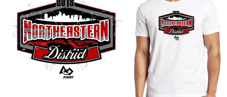 2015 Northeastern District cool robotics tshirt logo design
