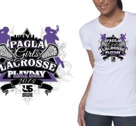 2015 PAGLA Girls Lacrosse Playday creative logo design for tshirt