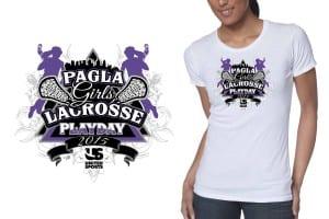 2015 PAGLA Girls Lacrosse Playday creative logo design for tshirt