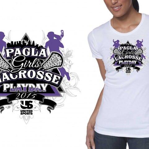 2015 PAGLA Girls Lacrosse Playday professional logo design for tshirt