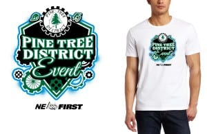 2015 Pine Tree District FIRST Robotics Competition color separated vector logo design for t shirt for robotics