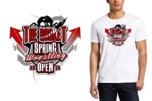 2015 The Rocket Spring Wrestling Open tshirt design