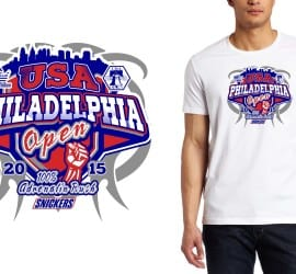 2015 USA Philadelphia Open martial arts cool tshirt design
