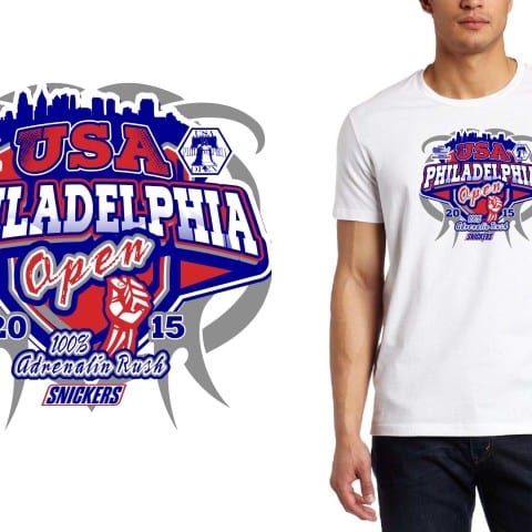 2015 USA Philadelphia Open martial arts cool tshirt design