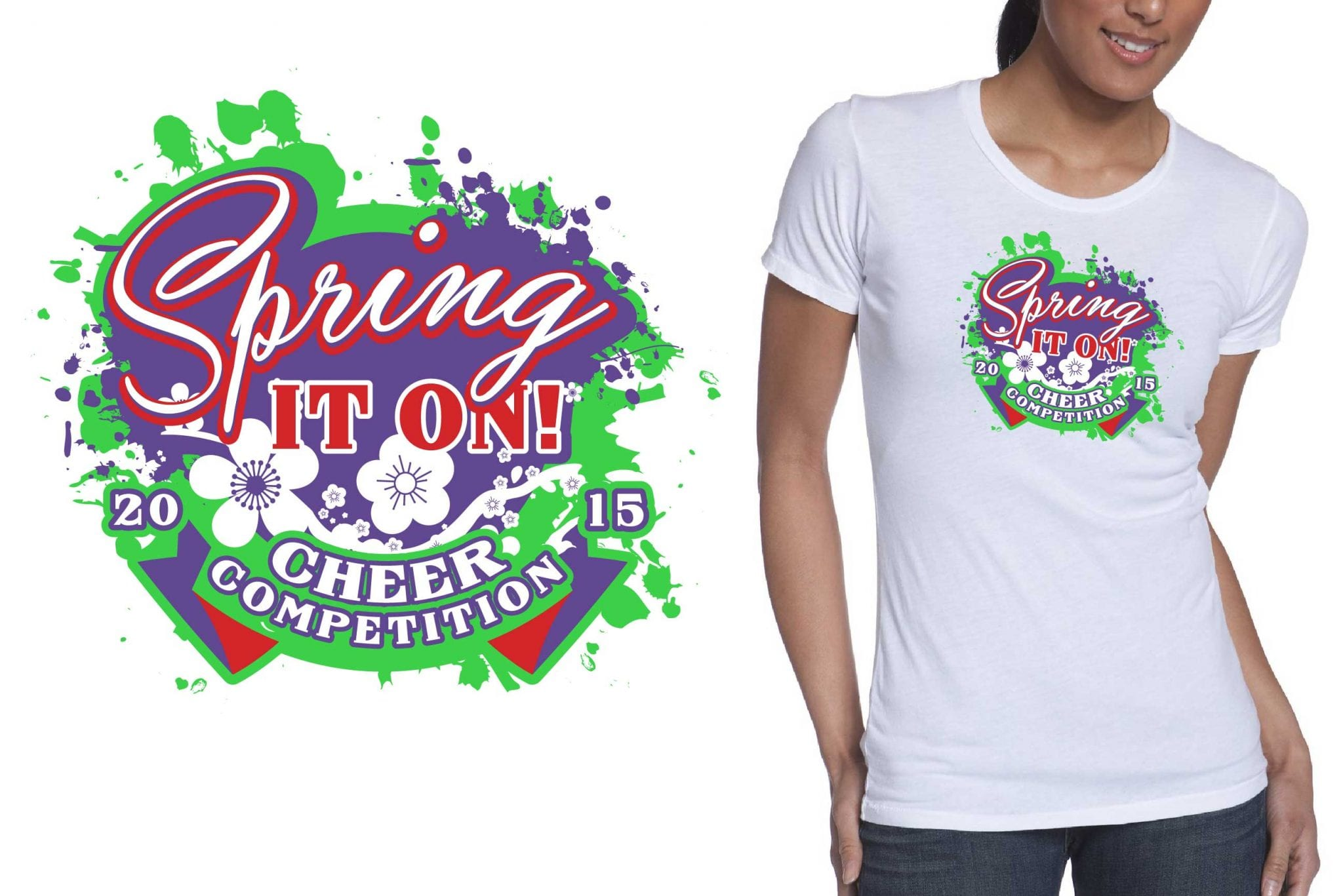 2015 Ultimate Cheer's Spring It On Cheer Competition tshirt design