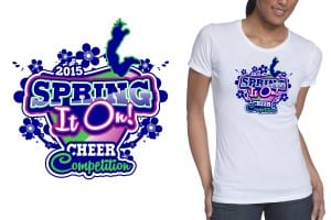 2015 Ultimate Cheer's Spring It On Cheer Competition apparel design