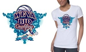 Professional Volleyball Vector Tshirt Design for 2015 WEVA Regional Championship