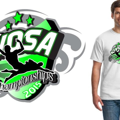 2015 WOSA Championships swimming and diving event tshirt design