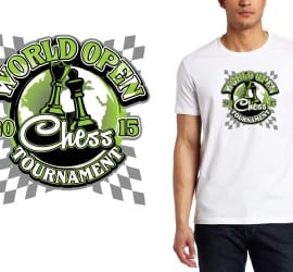 2015 World Open Chess Tournament tshirt design