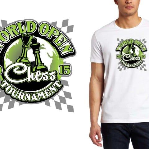 2015 World Open Chess Tournament tshirt design