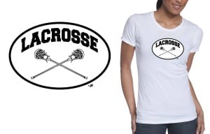 Simple black and white LACROSSE vector LOGO design