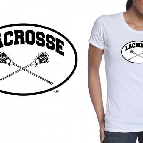 LACROSSE vector LOGO design Simple black and white