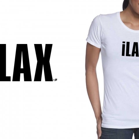 LACROSSE vector LOGO design iLAX Two color black and white