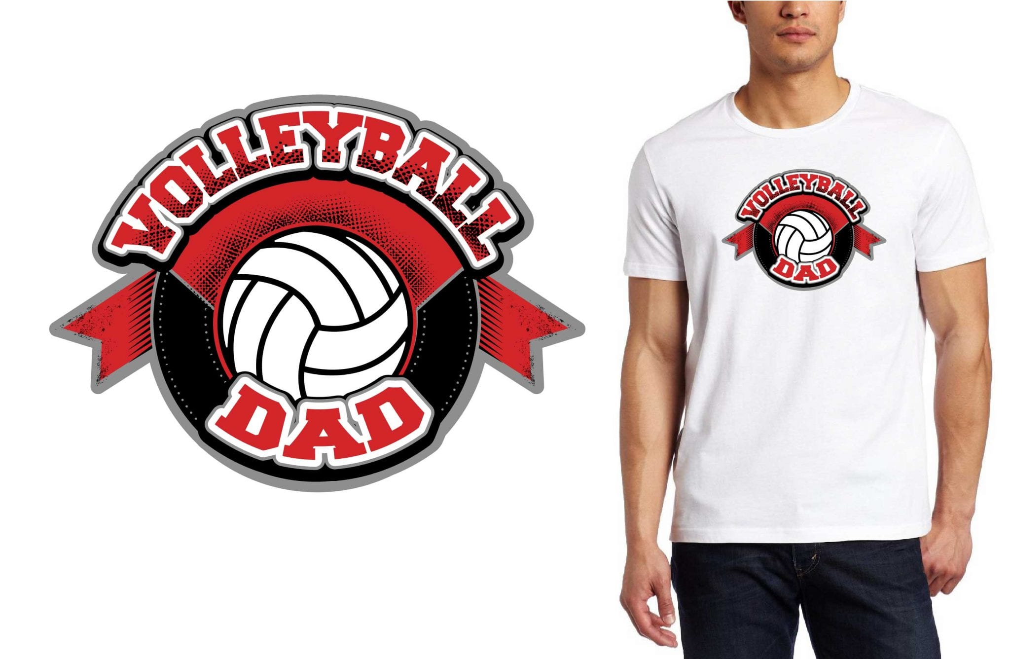 VOLLEYBALL DAD PRINT READY