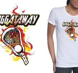Lax Tshirt Vector Logo Design on Fire