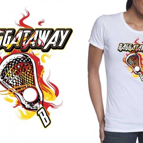 Fire Lax Tshirt Vector Logo Design