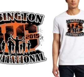 2015 ABINGTON JACK ARMSTRONG TRACK AND FIELD INVITATIONAL cross country tshirt design
