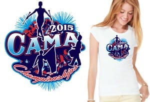 2015 CAMA Championships cool band tshirt design