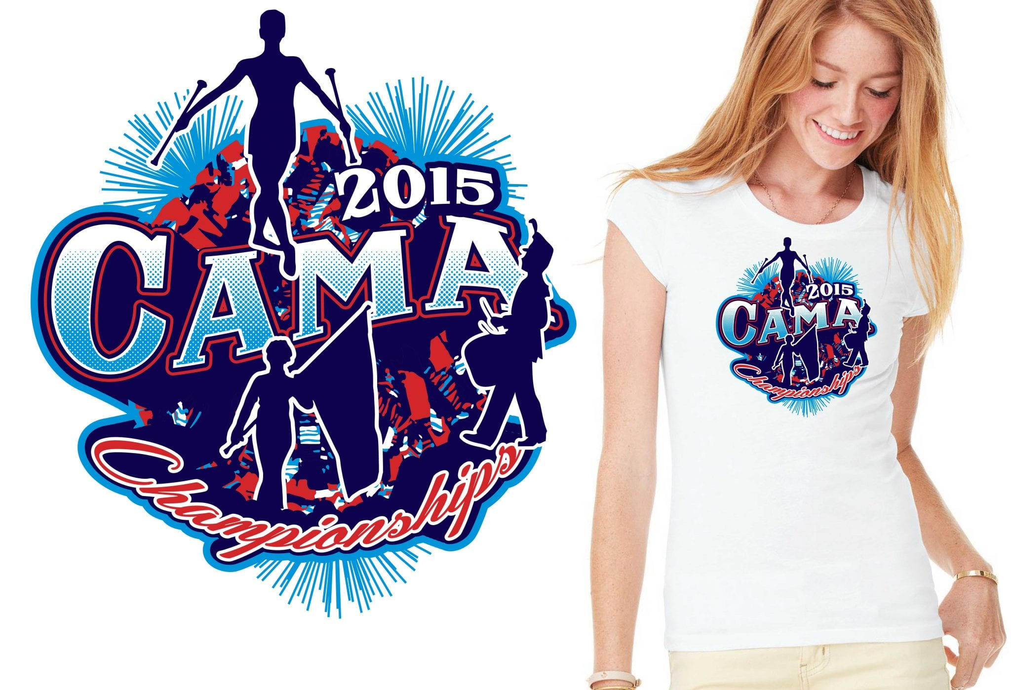 2015 CAMA Championships cool band tshirt design