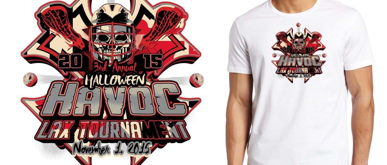 2015 MD Halloween Havoc Tournament of Champions Qualifie tshirt hockey logo design