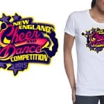 2015 New England Cheer and Dance Competition best tshirt logo design 3