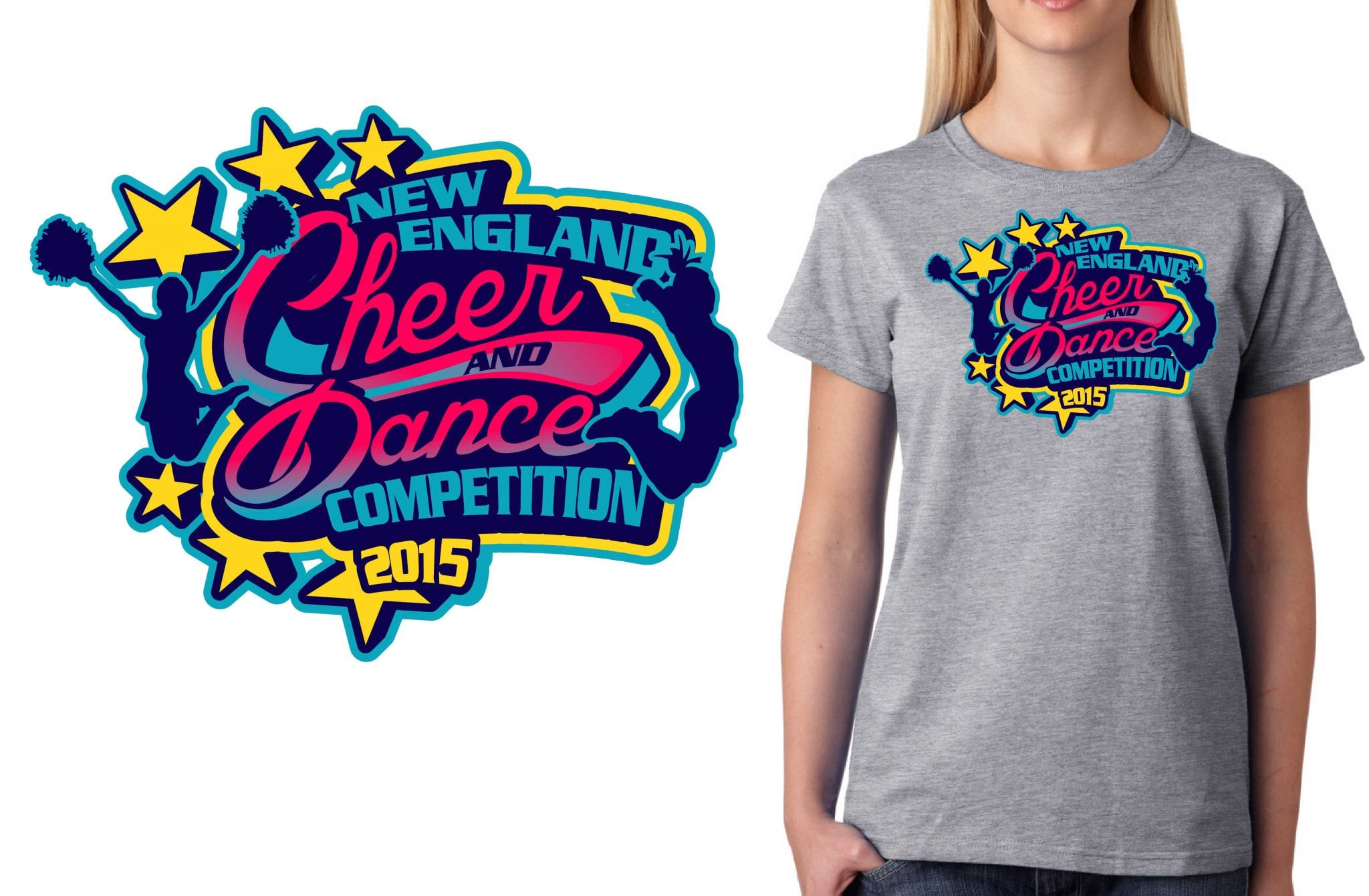 2015 new england cheer and dance competition best tshirt Cheerleading t shirt designs