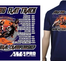 AMA Pro Flat Track Schedule tshirt logo design