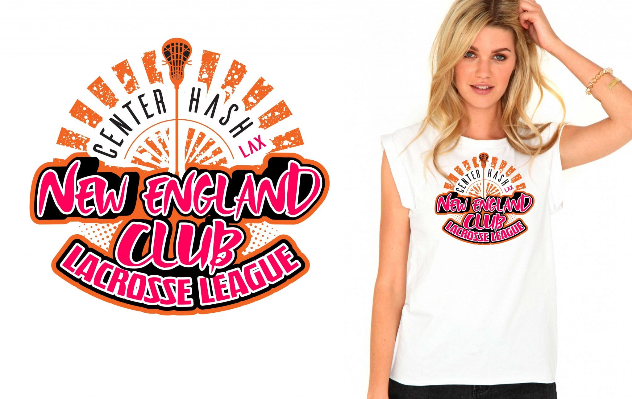 New England Club Lacrosse League awesome tshirt design 2