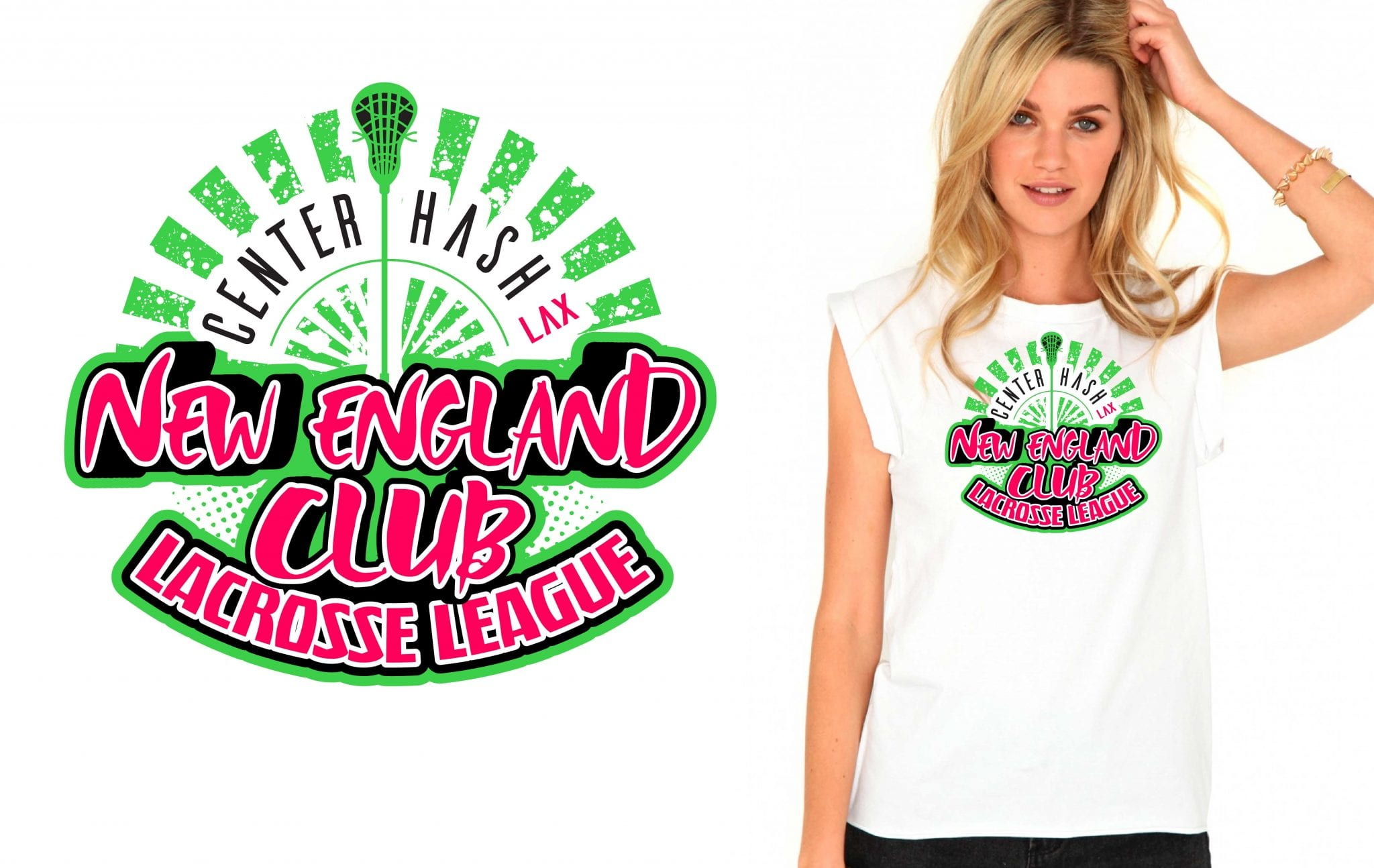 New England Club Lacrosse League awesome tshirt design