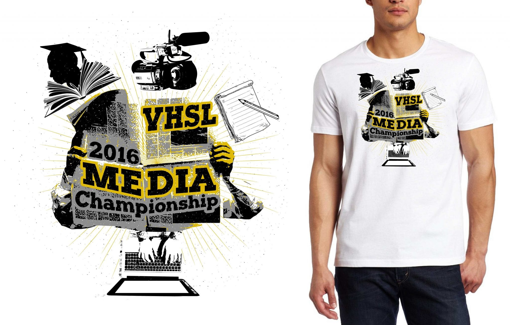 VHSL Media Championship awesome tshirt logo design