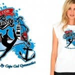 Amazing gymnastic logo design vector art for tshirt 2015 Cape Cod Classic