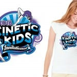 2016 Kinetic Kids Invitational girls gymnastic cool tshirt vector logo design by UrArtStudio